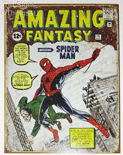 Amazing Fantasy Spider-Man Vtg Comic Cover new TIN SIGN marvel poster metal 1971