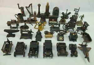 Vintage 34pc Lot Collectible Die Cast Metal Pencil Sharpeners, Figurines  Rare