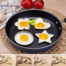 Stainless Steel Pancake Mould Mold Ring Cooking Fried Egg Shaper Kitchen Gadget