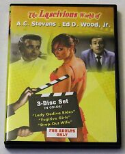 The Lascivious World of A.C. Stephen and Ed Wood, Jr. (DVD 3-Disc Set) OOP Rare