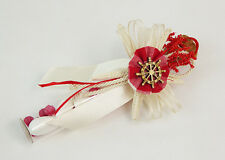 Bomboniera fiala mare rossa stella marina timone legno strass cresima wedding