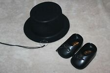 CHARLIE MCCARTHY VENTRILOQUIST DUMMY  HAT, SHOES, AND MONICULE NEW
