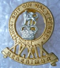 Badge- 15th/19th Royal Hussars Regiment Cap Badge QC (Bi-Metal)