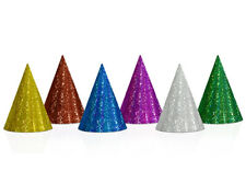 20 Mixed Holographic Coloured Card Party Hats | Kids Birthday Party Hats