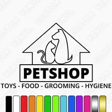 Pet Shop Sign, window / wall sticker decal, grooming shop window door sticker