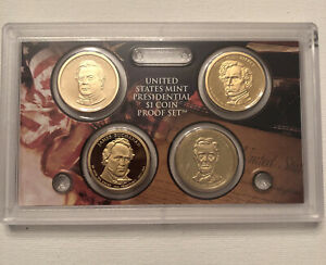 2010 S Presidential Dollar Coin Set Proof 4 Coins  - Mint Sealed - NO BOX/COA #1