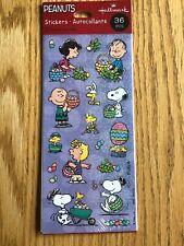 Peanuts Snoopy Easter Stickers Hallmark Woodstock Schultz NIP