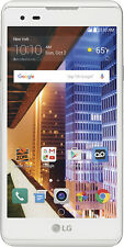 Boost Mobile - LG Tribute HD 4G LTE with 16GB Memory Prepaid Cell Phone - White