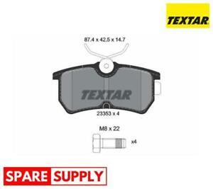 BRAKE PAD SET, DISC BRAKE FOR FORD TEXTAR 2335301