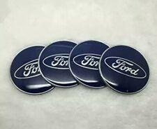 4x 56MM Ford Centro De Rueda Azul Tapa Decal Sticker Fiesta Focus Mustang Taurus RS