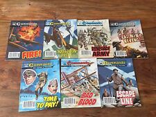Vintage Commando comics book - Issue no. 2644 to 2650, set of 7 war comics books