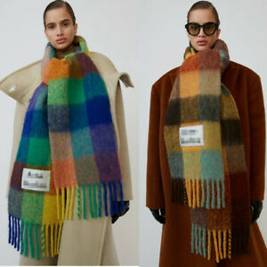 Acne Studios Scarf Scarves Thick Rainbow color matching Pashmina Shawl 240*35