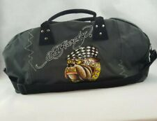 Ed Hardy Duffle Bag Olive Green Gray Bulldog (A6)