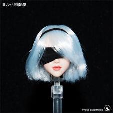 1/6 NieR:Automata 2b Type B Female Head Sculpt Girl Head Model W Movable Eyes