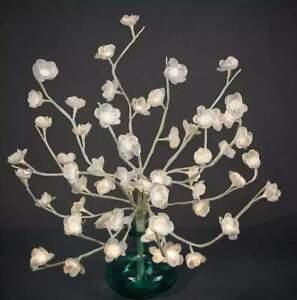 Lumineo 60 LED Zweigbeleuchtung mit Blumen Topf & Vase Weihnachtsbeleuchtung