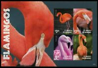 St Vincent & The Grenadines 2015 MNH SS, Flamingos, Water Birds -D27