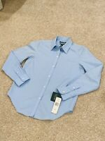 Polo Ralph Lauren NEW Solid Blue Women's Size S Button Down Shirt