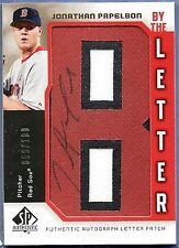 2006 SP Authentic JONATHAN PAPELBON Letter B Patch AUTO 59/100 Autograph Red Sox