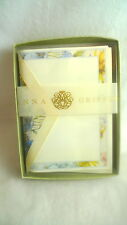 ANNA GRIFFIN 10 Letter Sheets with Lined Envelopes FLORAL DESIGN