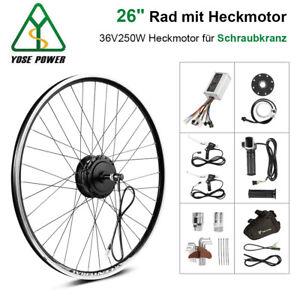 """YOSE POWER  26"""" 36V 250W Umbausatz E-bike Hinterrad Heckmotor für Schraubkranz"""