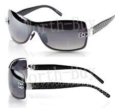 New DG Shield Womens Designer Sunglasses Shades Silver Black Fashion One Lenses