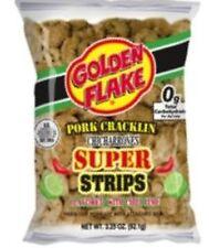Golden Flake Super Cracklin Strips, Chili Lime, 3.25 oz (Pack 4)