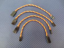 4 Piece servoverlängerung Twisted for JR Graupner 15cm 3x0,34mm ² Servo Cable