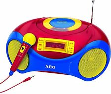 AEG Sr 4363 Stereo Radio USB cd/mp3 - Player micrófono transmisor memoria apéndice niños