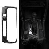 Carbon Fiber Gear Shift Box Panel Cover Trim Fits 2016-2019 Honda Civic 10th New