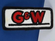 G&W HAT PATCH VINTAGE ADVERTISING COLLECTOR