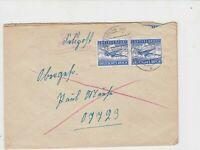 germany 1940s air field post stamps cover ref 19092