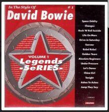 KARAOKE CDG     LEGENDS SERIES  VOLUME  01    DAVID BOWIE   15 TOP TRACKS