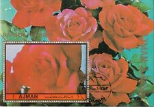 Ajman 1972 Rosa Garden Flowers Fiori da Giardino Roses Rose Perf. Nuovo CTO