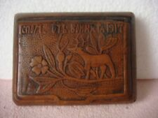 RRR RARE Antique Vintage Carved Wooden Box WWI / A Memory of the War 1917