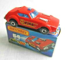 Matchbox Superfast 64c. Fire Chief Car. Boxed.