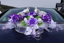 Auto Schmuck Blumen Braut Paar Dekoration Autoschmuck Tauben Hochzeit Deko LA80