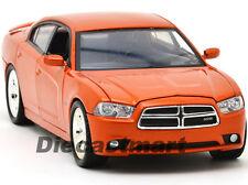 MOTORMAX 1:24 2011 DODGE CHARGER R/T NEW DIECAST MODEL CAR ORANGE 73354