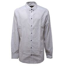 3479AC camicia uomo DOLCE & GABBANA GOLD cotton grey stripes shirt men