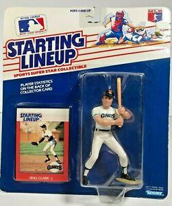 MLB Baseball Figurine & Card Will Clark SF Giants Starting Lineup Kenner