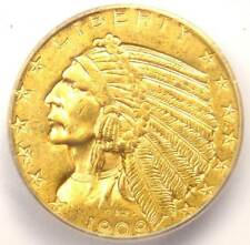 1909-D Indian Gold Half Eagle $5 Coin - ICG MS63 - Rare in MS63 - $1,060 Value!