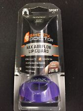 Adult Size Shock Doctor Max Airflow Purple Lip Guard Football Mouth Guard New