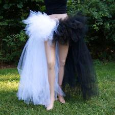 Half Bustle Layer Tulle Tutu Skirt Burlesque Petticoat Clubwear Rave Party Dress