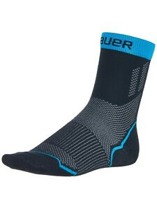 Bauer Hockey S21 Performance LOW Skate Socks - Moisture Wicking, Odor Resistant