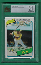 1980 Topps Rickey Henderson Hall of Fame Rookie - BVG 8.5 NM-MT+ (Centered 50/50