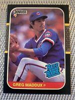 1987 DONRUSS GREG MADDUX ROOKIE CHICAGO CUBS NEAR MINT TO MINT NICE # 36