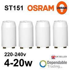 Pack de 4 OSRAM ST151 4-20W Tube fluorescent séries Starters 4w - 20W