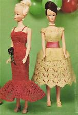 BARBIE DOLL PARTY DRESSES -  COPY doll crochet & knitting