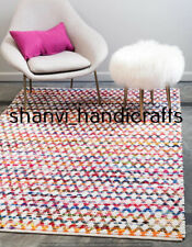 Handmade Braided Cotton Rugs Reversible Rug Floor Decorative Carpet 6x9 Feet Rug