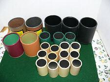 LOT 22 DICE SHAKER CUPS/ plastic cardboard