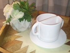 Kierland Split Mug With Plate. White 2 In 1 Mug! Fun gift!